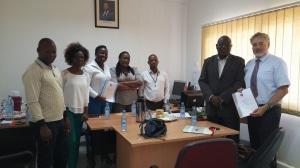 20160413_Responsaveis da DPS de Maputo no acto de assinatura do MoU